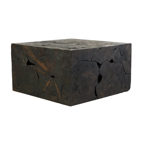 [FL1414BLK] Triple Burnt Coffee Table
