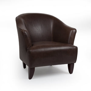 [FGC8713DBRN] Rupert Lounge Chair - Brown Leather SALE