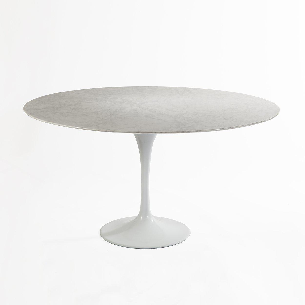 [RT335R54WHITE] The Marble Tulip Dining Table 54