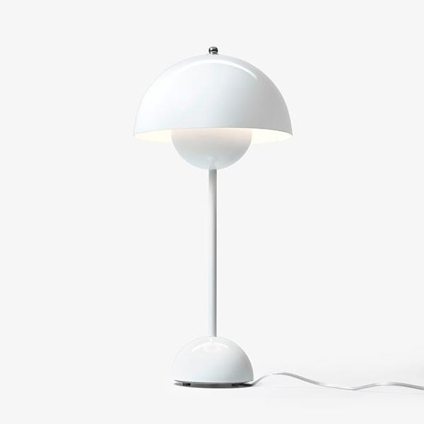 [LBT033WHT] Agnete white table lamp