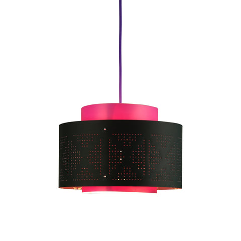 [LF1318BLKFU] Venlo black fuchsia  with purple power cord SALE