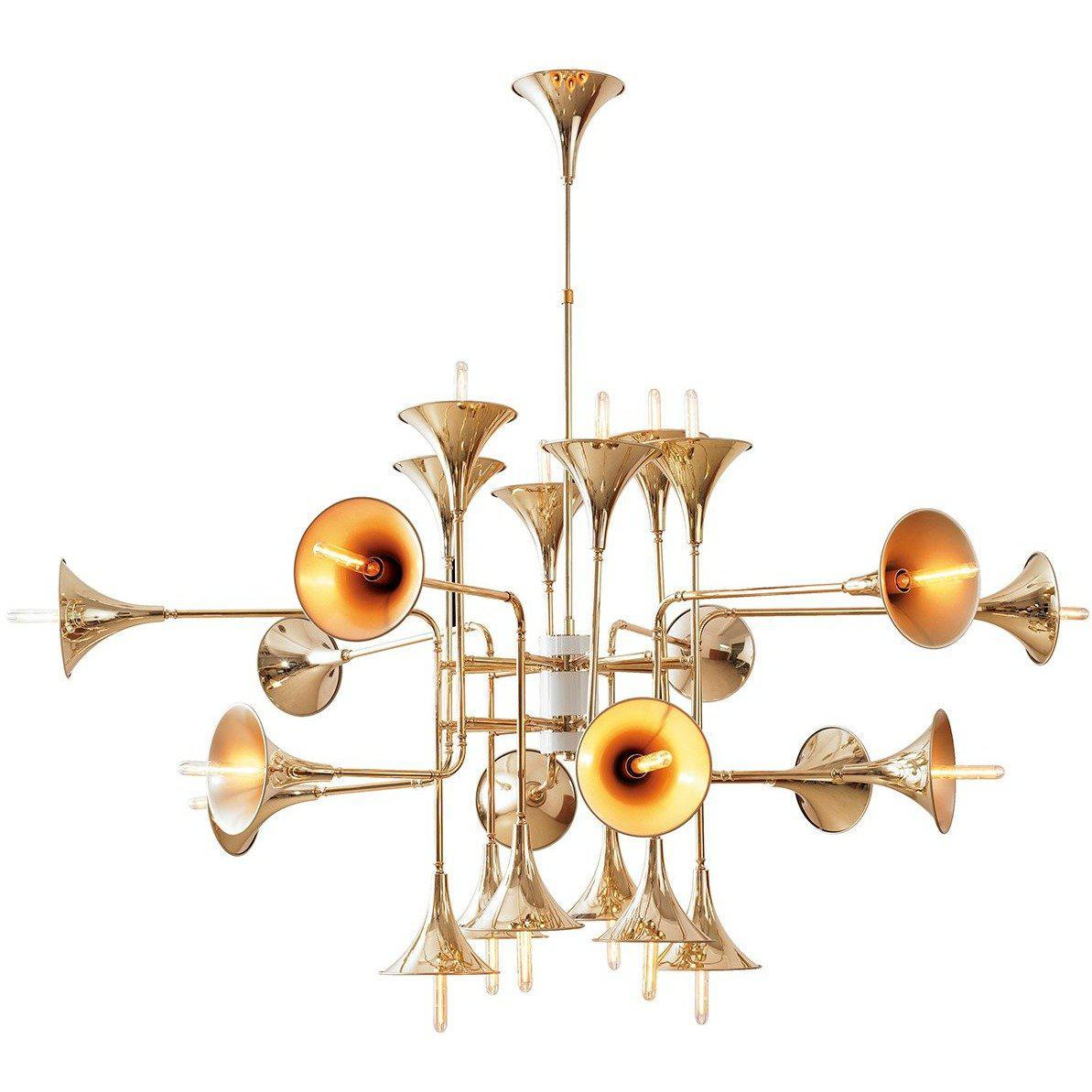 [LM35624PGOLD] The Trumpet Chandelier