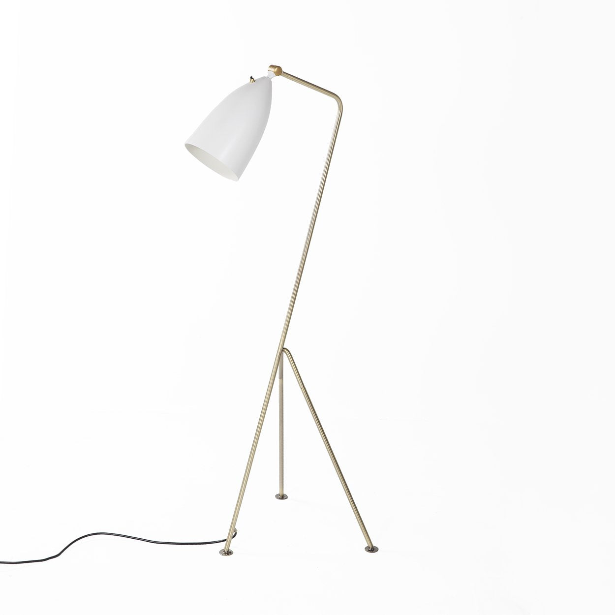 [LBF001BRSWHTNEW] The Grasshopper Floor Lamp