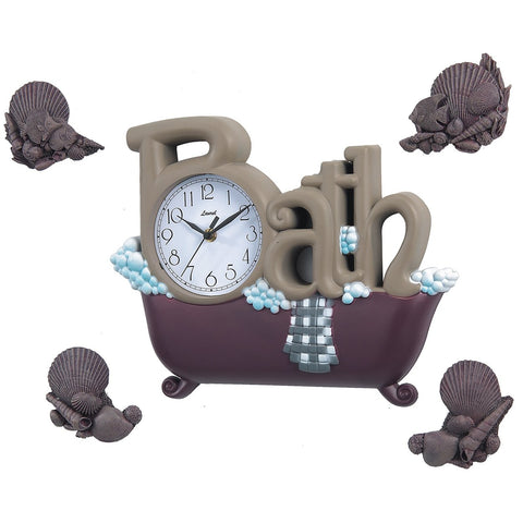 [1590BDSET] The Bath Clock with Four Shells SALE