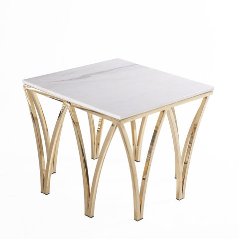 [FWT186SWHTGOLD] gayle end table SALE