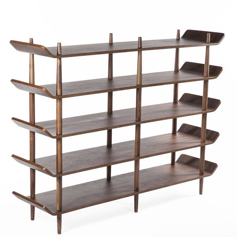 [FES3319WALNUTB] Sean Dix Bookcase X10