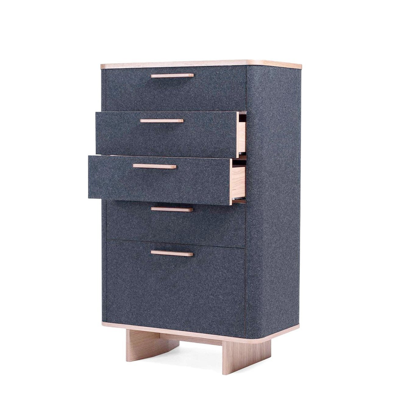 [FES2252DGREY] Felt Chest of Drawers