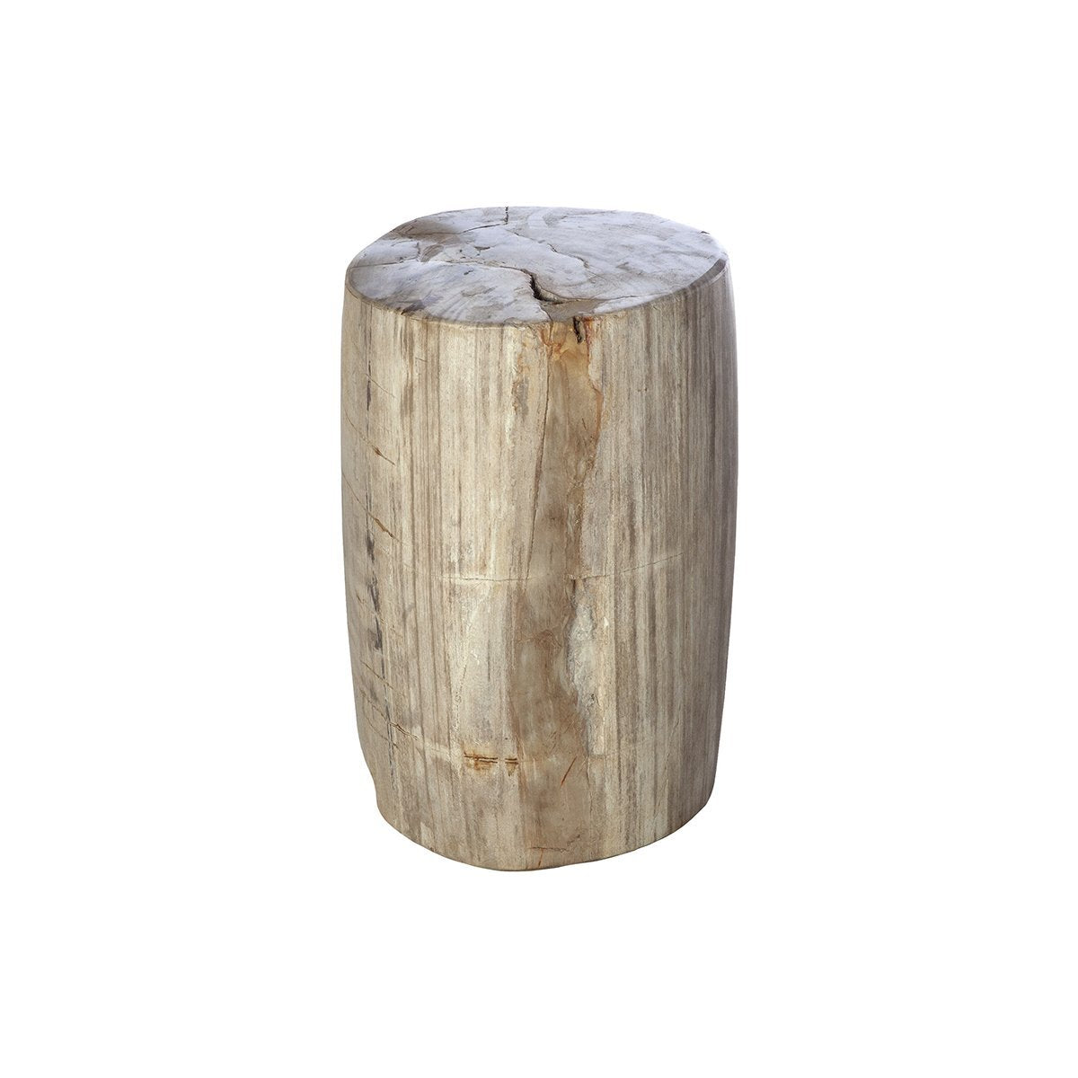 [FL1409WHT] Petrified Wood Side Table