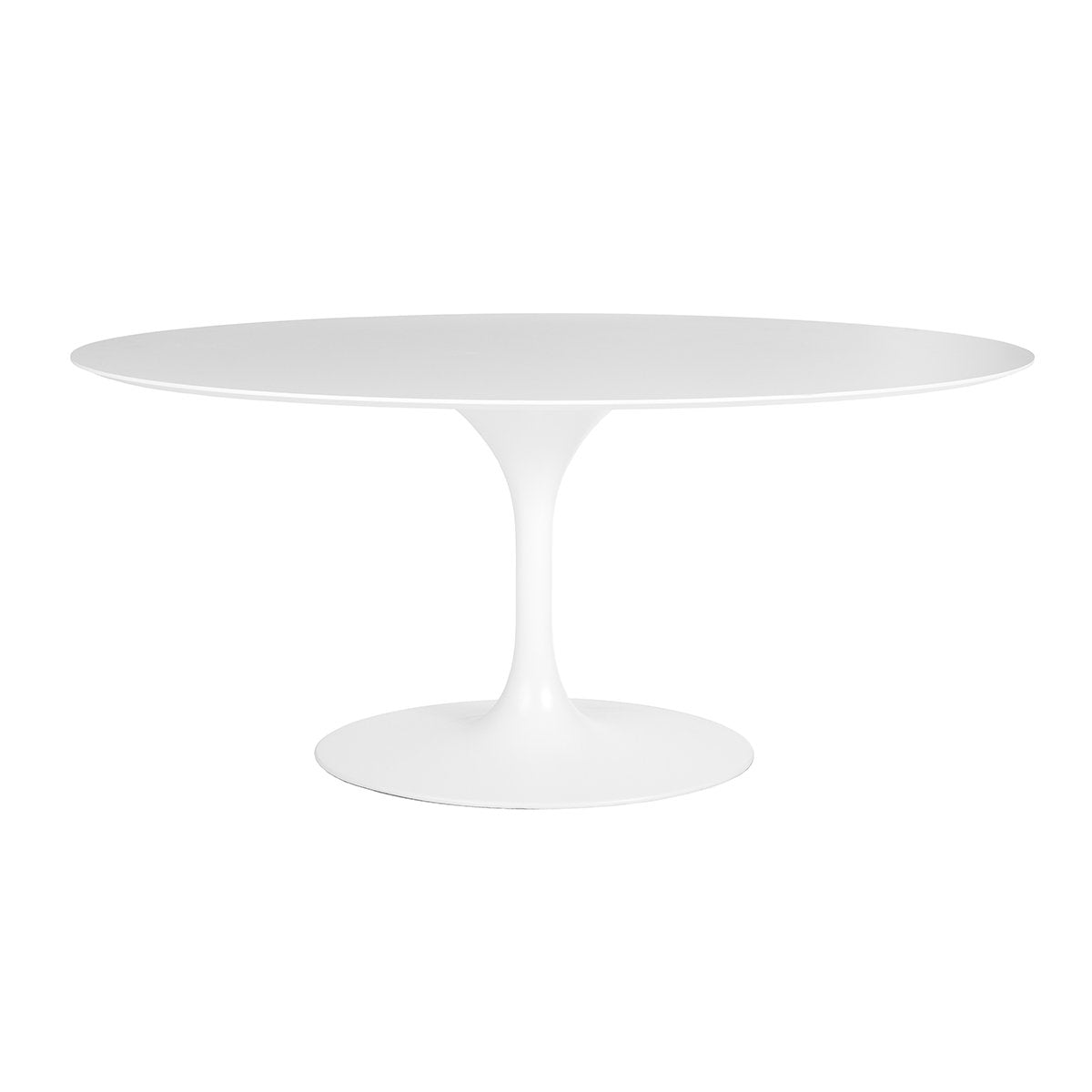 "[FET8317WHTHPL] Tulip Dining Table - 63"" Oval"
