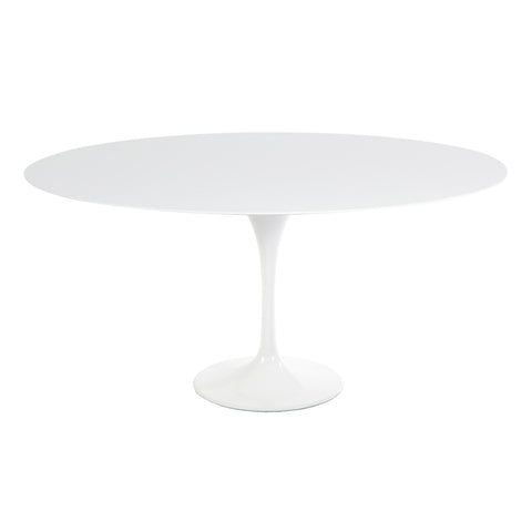 [RTQR60WHT] Round Quartz Tulip Dining Table - 60""