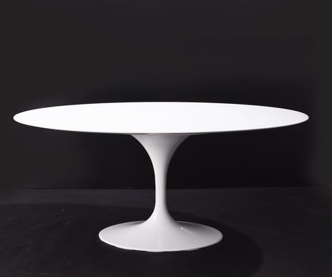 [RTQV6042WHT] Oval Quartz Dining Tulip Table - 60""