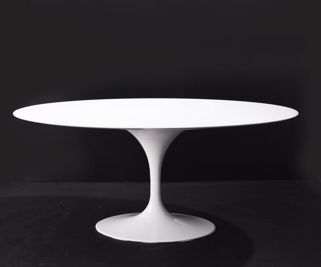 [RTQV7947WHT] Oval Quartz Dining Tulip Table - 79""