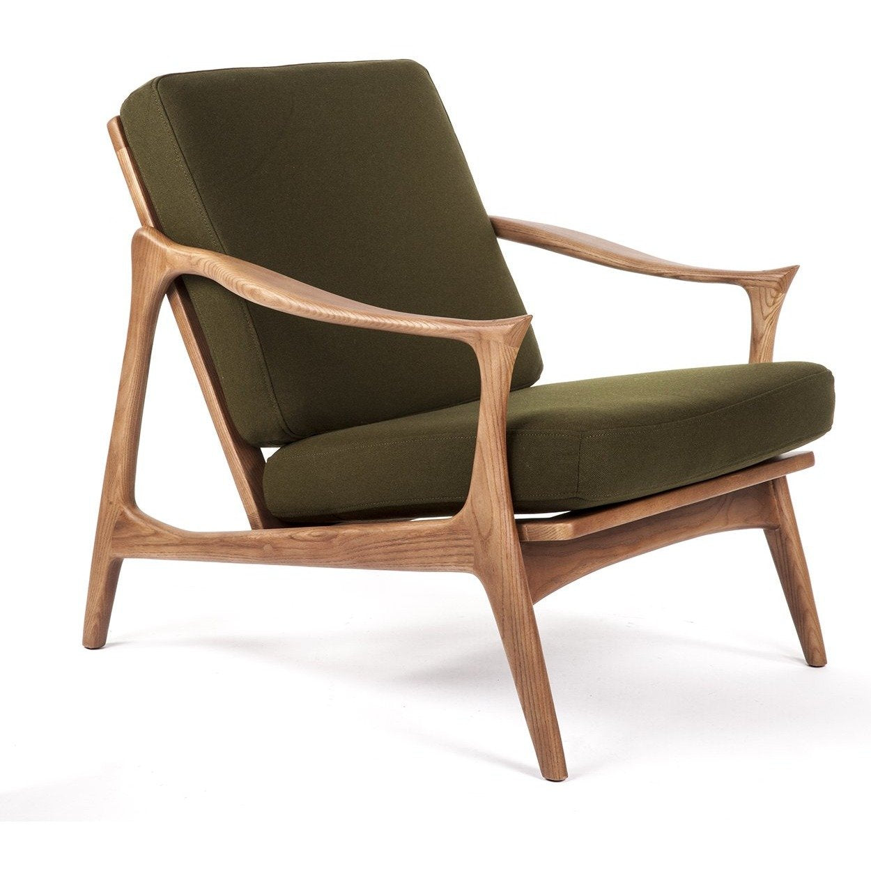 [FEC0219GRN] The Upton Easy Chair with Horned Armrests