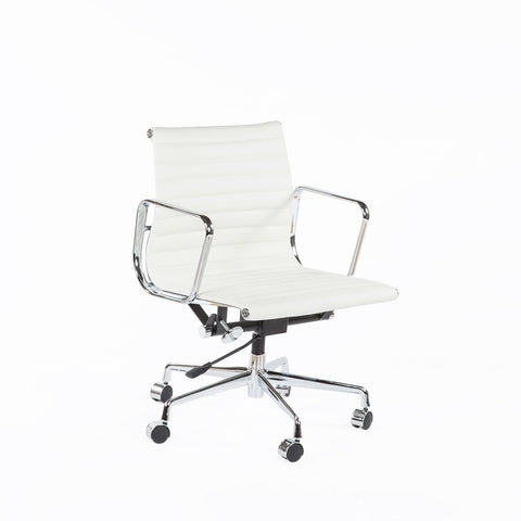 [FZC1022WHT] The Mid-Century Leather Executive Office Chair sale