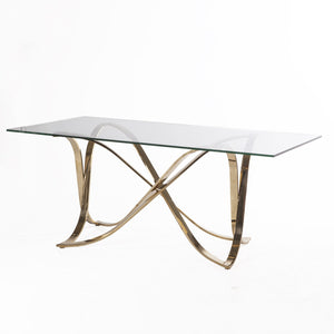 [FWT336CLRGOLD] gilah dining table