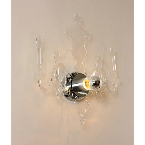 [LM6027W] Large Acrylic Chandelier Reflection Sconce-Clear