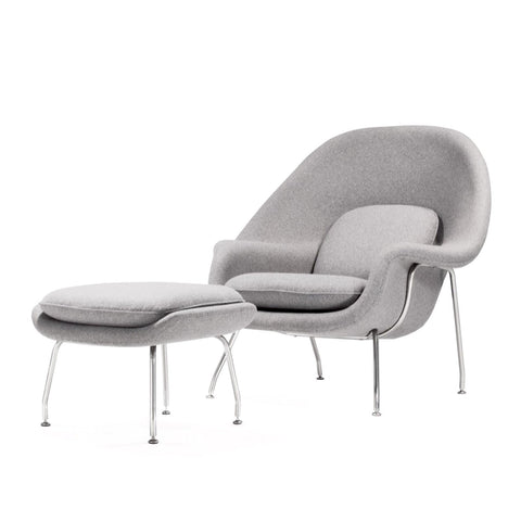 [FB2288LGREY] The Womb Chair With Ottoman