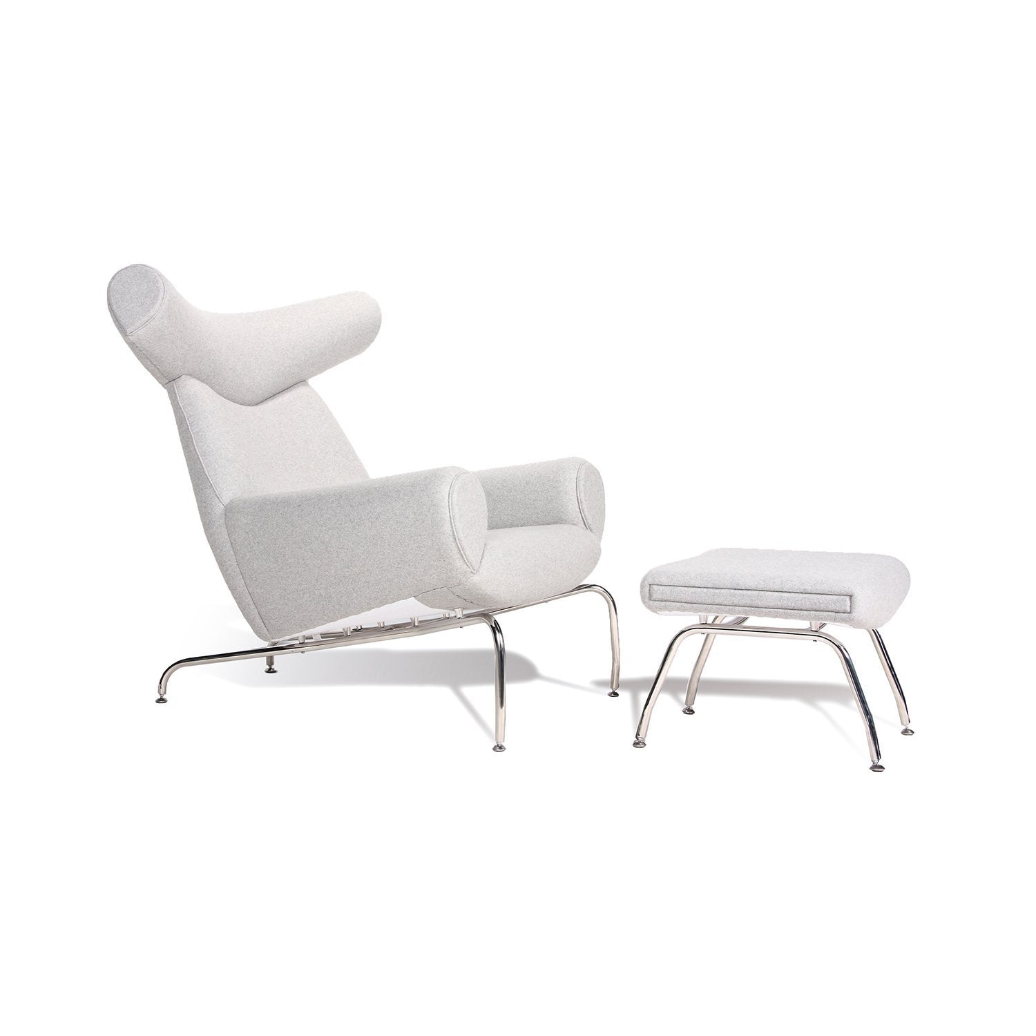 [FB0688LGREY] The Cooper Lounge Chair  and Ottoman