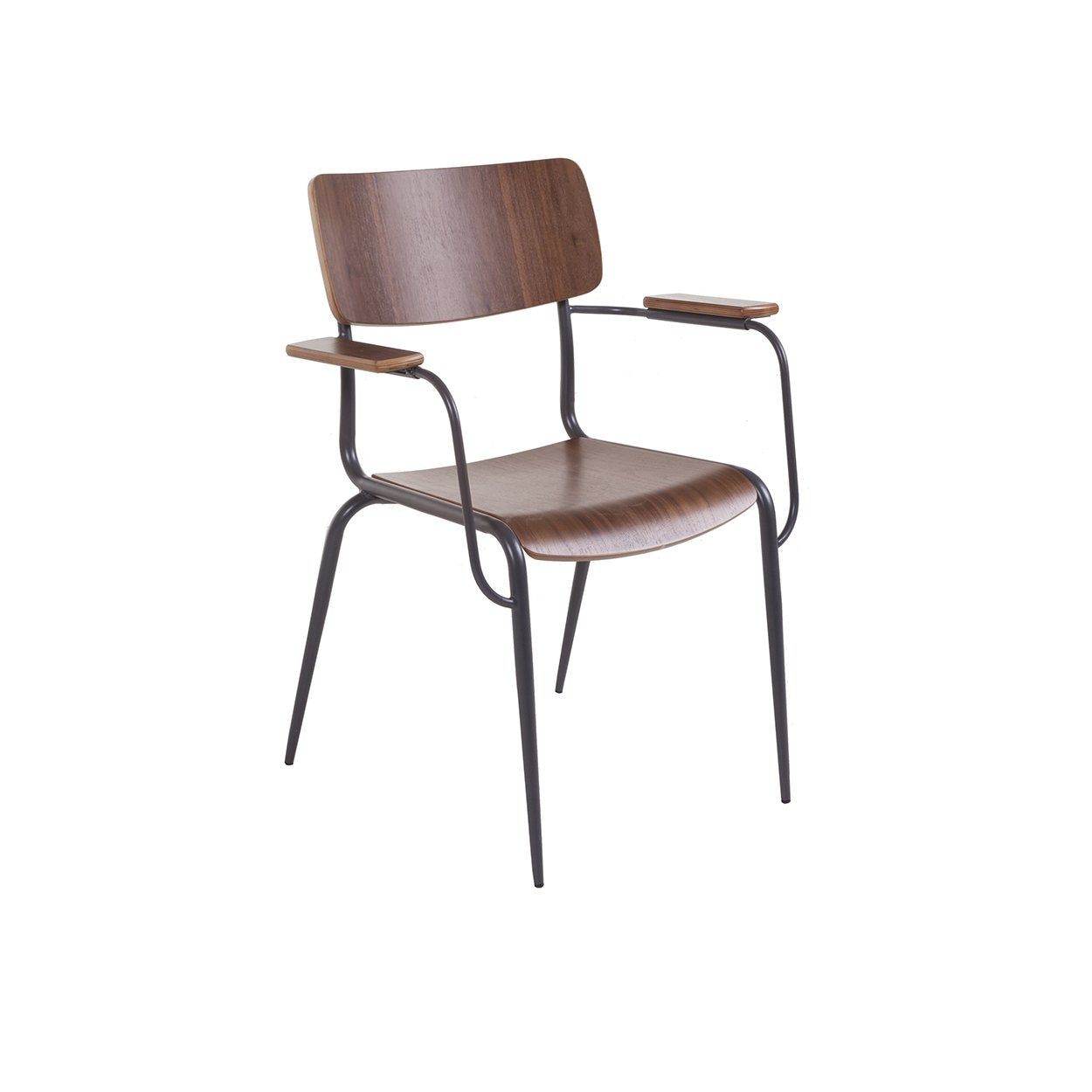 [FOC58762WALNUT] Hummel Arm Chair