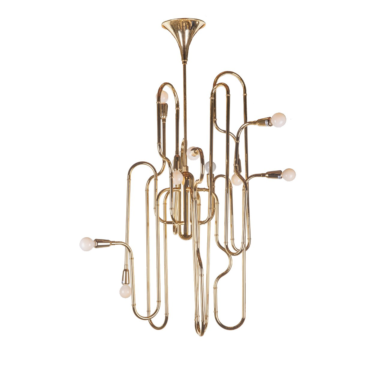 [LM35810PGOLD] The Trombone Chandelier SALE