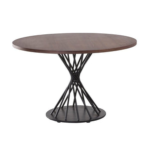 [FET3025WALNUT] Sean Dix Twist Dowel Dining Table