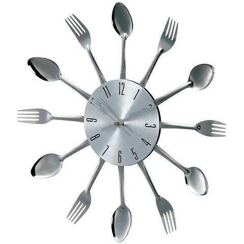 [1234SPOON16REMAIL] Verichron Metal Fork and Spoon clock SALE