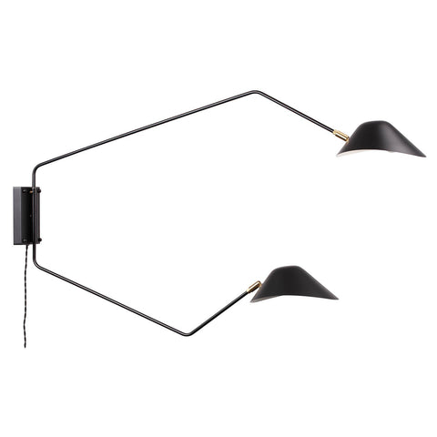 [LBW094DBLK] Mussla Two Arm Wall Lamp
