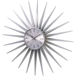 [1688SILVER24] Sunburst clock