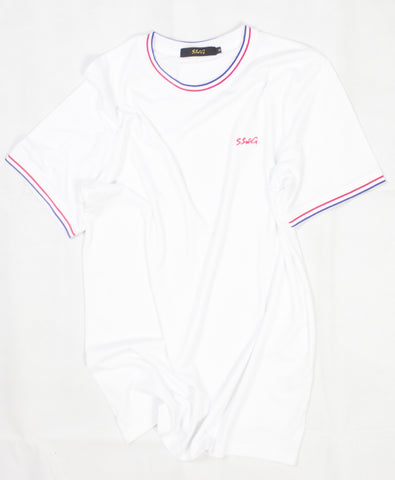 SSWG Signature Fit Tipped Tee White