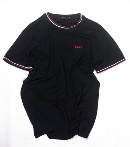 SSWG Signature Fit Tipped Tee Black