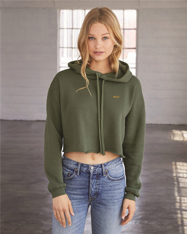 SSWG Signature Crop Top Hoodie (Army Green)