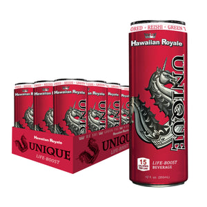 12 ct. Case of 12 oz. Unique Life-Boost Hawaiian Royale