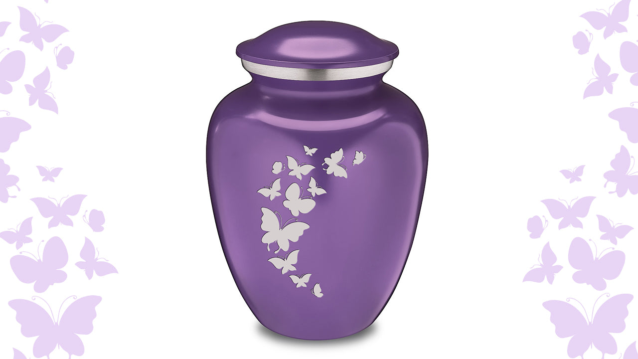 Embrace Butterflies Cremation Urn For Ashes
