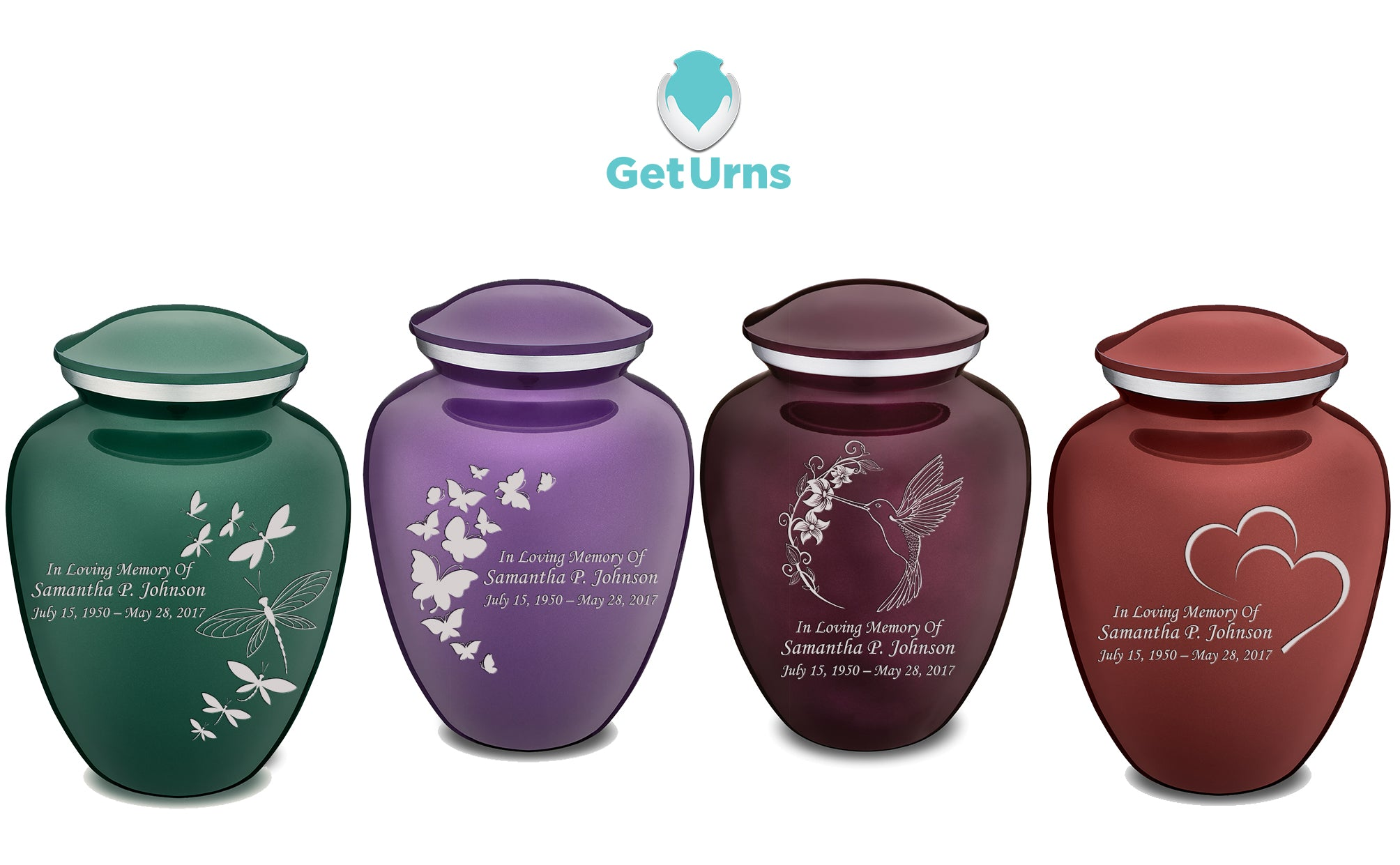 Engraving on Cremation urns