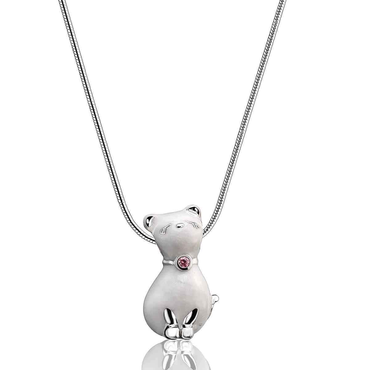 Sterling Silver Princess Cat Cremation Pendant