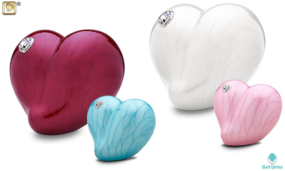 LoveUrns Loveheart cremation urns - GetUrns