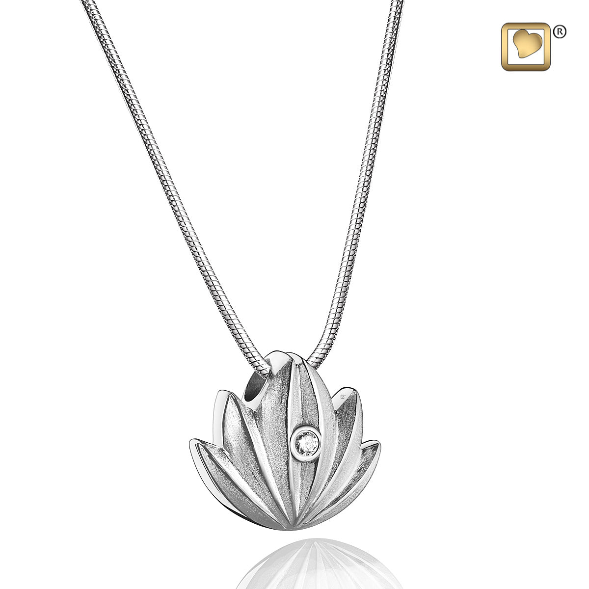 Cremation jewelry - lotus pendant by Geturns
