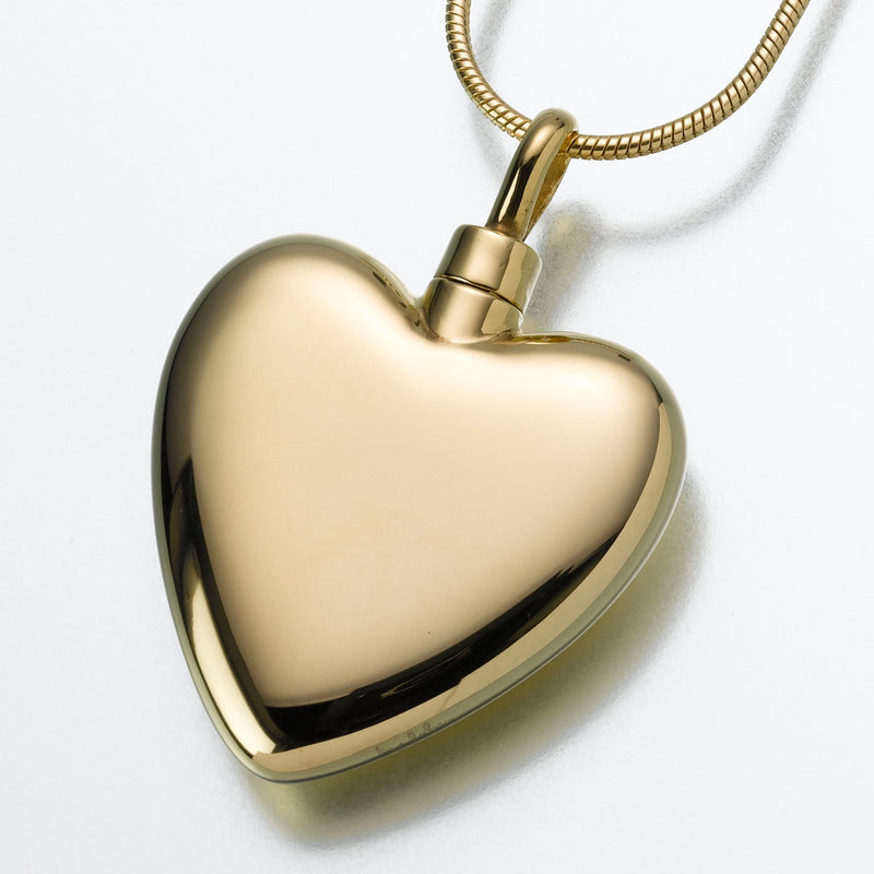 Large Gold Vermeil Heart Pendant
