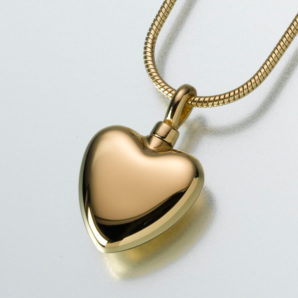 Small Gold Vermeil Heart Pendant