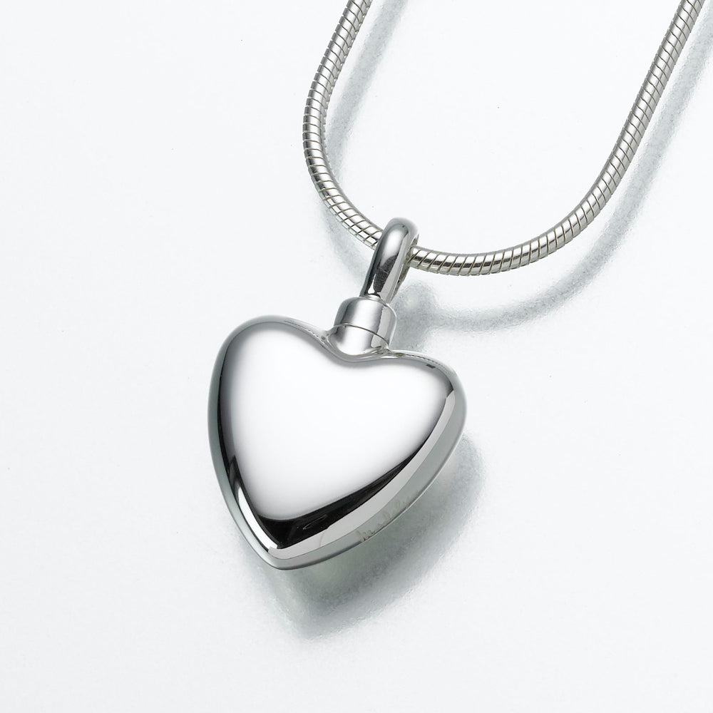 Small Sterling Silver Heart Pendant