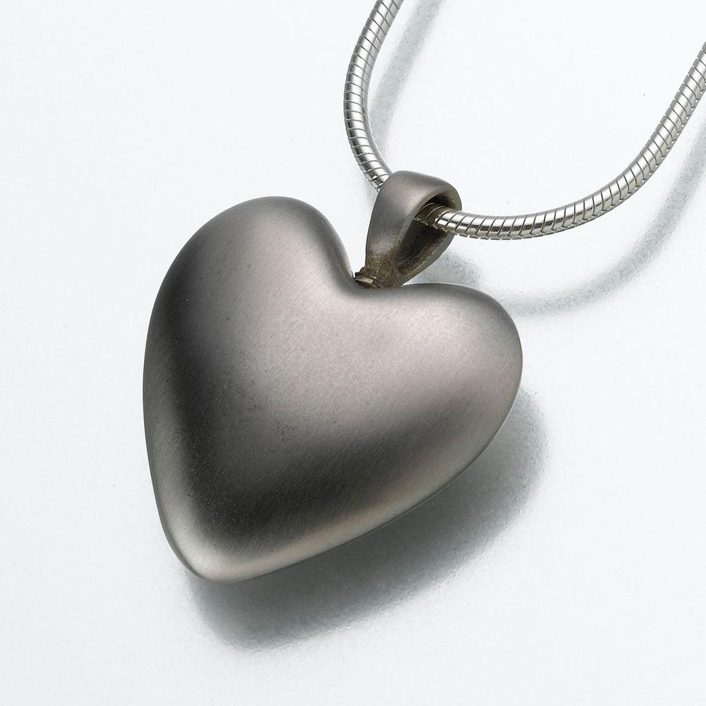 White Bronze Heart Pendant