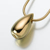 Gold Vermeil Tear Slide  Drop Pendant