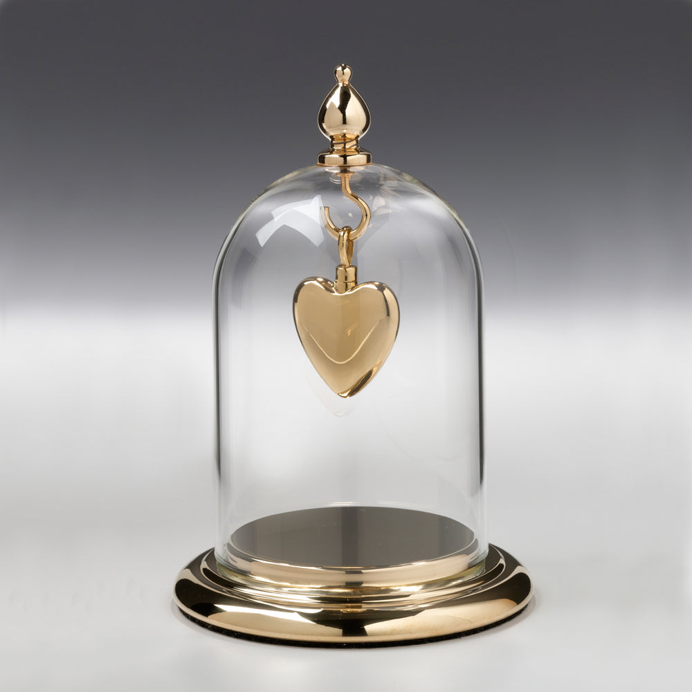 Gold  Luster / Glass Dome & Gold Base Cremation Jewelry