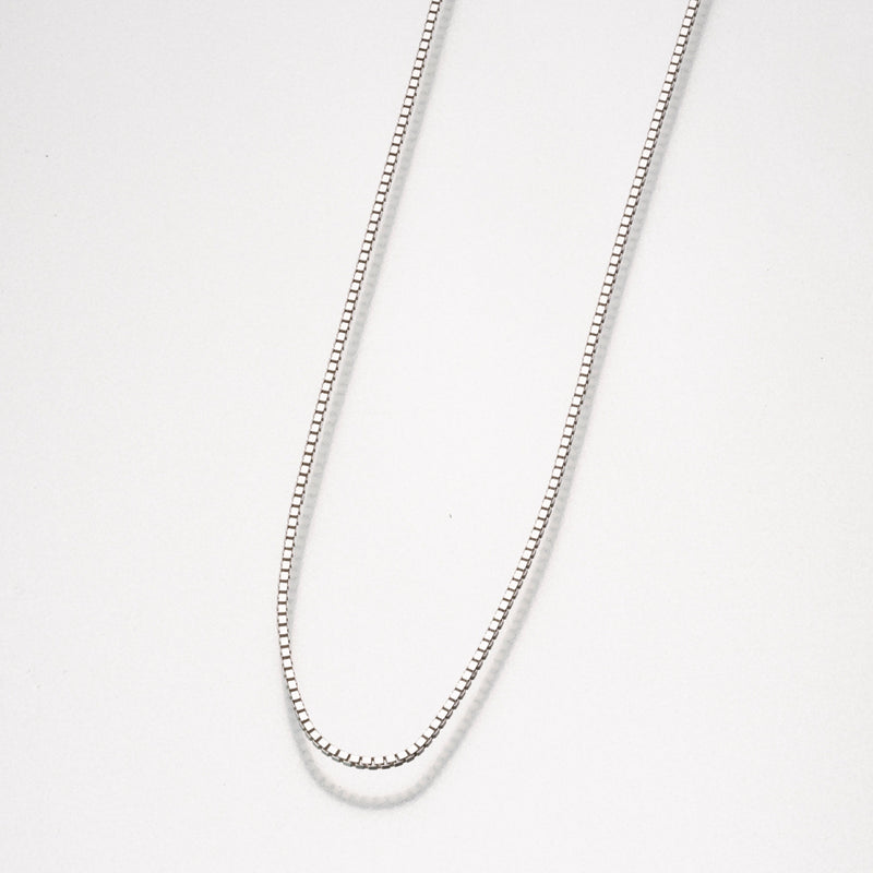24 Inch Sterling Silver  Box Chain Cremation Jewelry