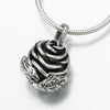 Sterling Silver Rose Pendant Cremation Jewelry