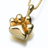 Gold Vermeil Paw Pendant Cremation Jewelry