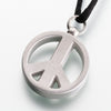 Pewter Peace Sign Cremation Jewelry