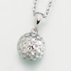 Stainless Steel Golf ball w/chain Cremation Jewelry