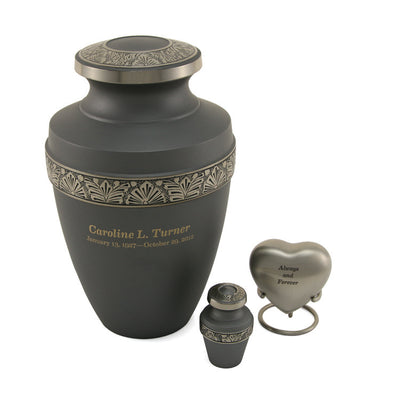Grecian Rustic Pewter - Large Adult Cremation Urn