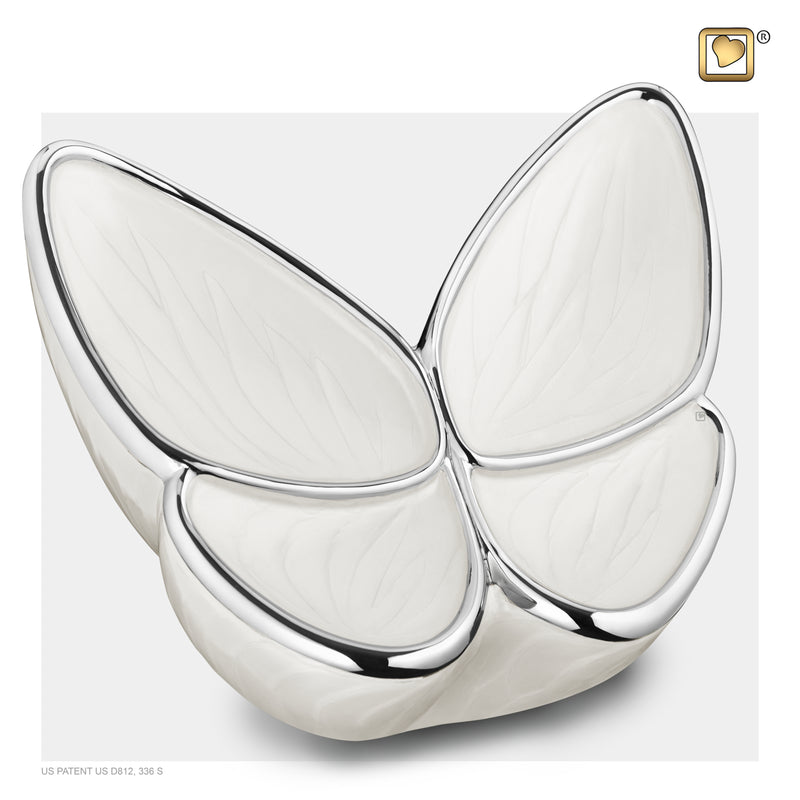 Adult Wings of Hope Butterfly Pearl Cremation Urn